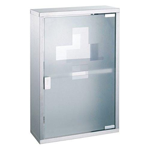 MSV medicijnkastje 30 x 45 cm, plastic, zilver, 30 x 20 x 15 cm