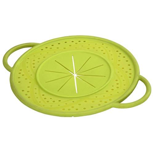 Hama Silikon Überkochschutz, Deckel zum Schutz vor Überkochen, für Topf und Pfanne, 21 cm, rund, grün