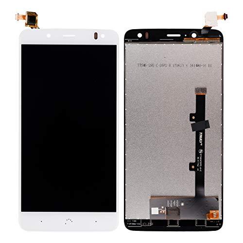 swark Pantalla LCD compatible con BQ Aquaris V Plus/VS Plus blanco (sin marco), pantalla táctil digitalizador, cristal de montaje + herramientas
