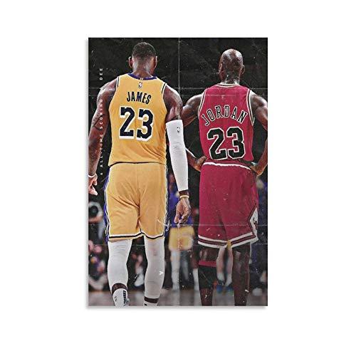 ASDWD Póster decorativo para pared con diseño de rey de baloncesto (20 x 30 cm)
