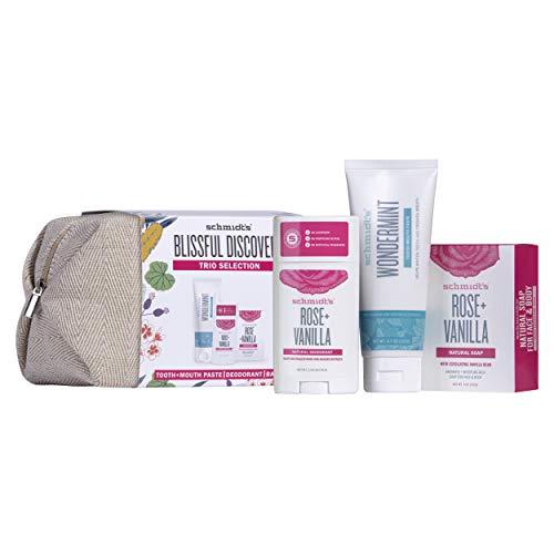 Schmidt´s Set de regalo de rosa (neceser con jabón, pasta de dientes y desodorante), 1 unidad