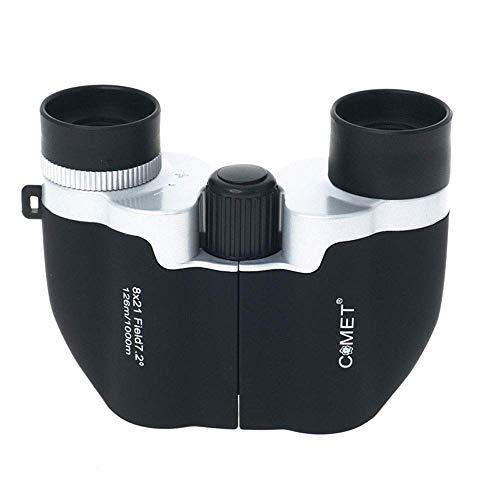 8X22 ABS Porseleinen Verrekijker Gemakkelijk Draagbare Telescoop voor Jacht en Vissen Camping/Wandelen/Bewaar Dagelijks Gebruik Spectralite Coating/Vogels Kijken Klein (Kleur: Zwart) 1
