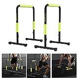 TENGGO [Directo de la UE Parallel Bars Ajustable Multifunción Dip Stand Station Muscal Aptitud Workout Push Up Stand Gym Ejercicio en casa