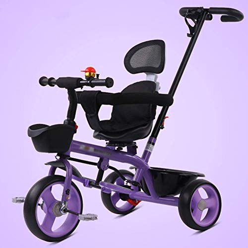 Buy Discount 3-in-1 Kids' Trikes Pedal Cars,Push Along Trike with Parent Handle 3-6 Year Old Boys Gi...