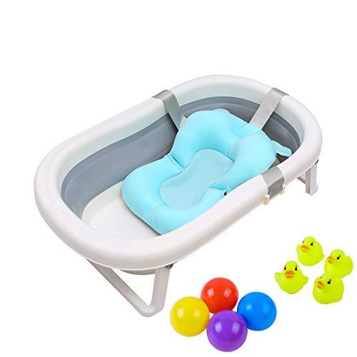 Foldable Baby Bath Tub for Boys Baby Shower - Blu