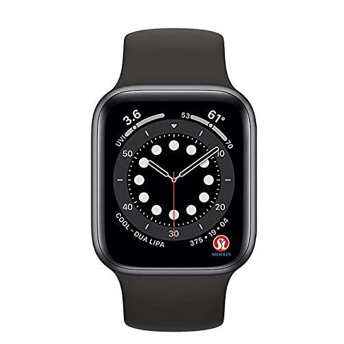 Smart Watch Series 6 Casos adecuados para Apple Smart Watch iPhone Watch Android Mobile Bluetooth Smart Watch MingYuChangHu (Color : Black 1pcs)
