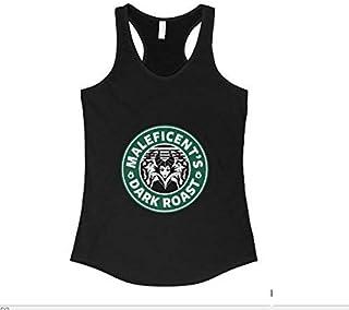Custom Women's Starbucks Coffee Maleficent Disney Villains Racerback Tank