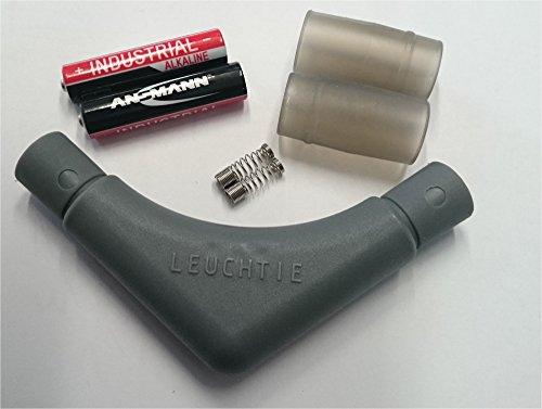 LEUCHTIE® Leuchthalsband Ersatzteilset grau I für LED Halsband Plus oder Premium für Hunde