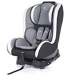 R for Rabbit Convertible Baby Car Seat Jack N Jill ECE R44/04 Safety Certified Car Seat for Kids of 0 to 5 Years Age with 3 Recline Position (Black Grey),R for Rabbit