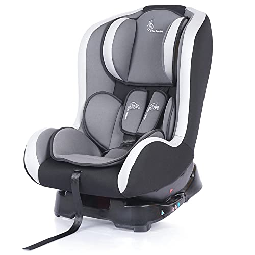 R for Rabbit Convertible Baby Car Seat Jack N Jill ECE R44/04 Safety Certified Car Seat for Kids of 0 to 5 Years Age (Black Grey)