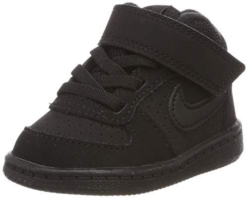 Nike Jungen Court Borough Mid (TD) Hausschuhe, Schwarz (Black/Black 001), 19.5 EU