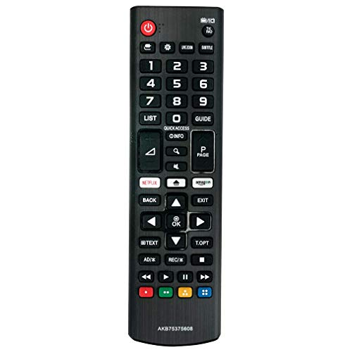 VINABTY AKB75375608 Mando a Distancia reemplazado para LG 4K UHD TV 32LK6100 50UK6500 55UK6100 49UK6200 55UK6200 43UK6300...