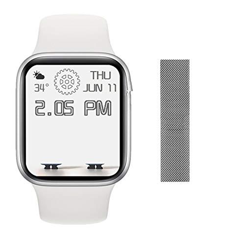 LJMG The New DW35 Bluetooth Smart Watch 1.75 Pulgadas Pantalla De 44 Mm Llamada A Bluetooth Reloj Masculino De Cargador para Android iOS Y Presión Arterial,A