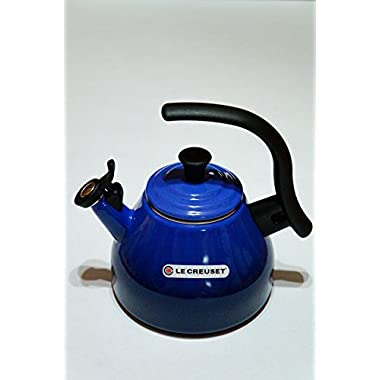 Le Creuset Chrysenth Enamel on Steel 1.6 Qt Whistling Tea Kettle, Cobalt Blue