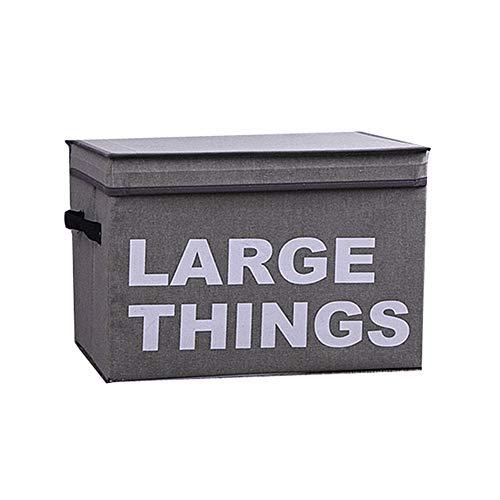 wpaacb scatole Porta Giochi portagiochi Scatole per Giocattoli scatole di immagazzinaggio cubo Scatola di immagazzinaggio di Tela Gray,L