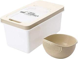 TFJJSQA Spécial/Simple Distributeur de céréales en Plastique Boîte de Rangement Cuisine Cuisine Riz Riz Grain Conteneur Or...