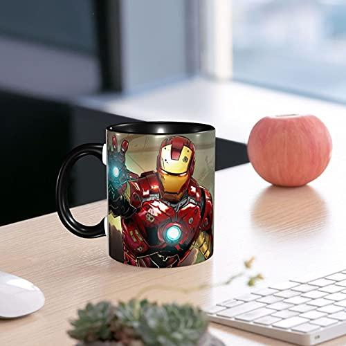 Taza de cerámica de Iron Man suave de porcelana esmerilada taza de café taza de té para oficina y hogar regalo de salud capacidad máxima 330 ml