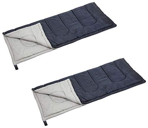 【Amazon.co.jp 限定】 キャプテンスタッグ(CAPTAIN STAG) 寝袋 シュラフ 【最低使用温度12度】 封筒型シュラフ フォルノ 中綿量800g ダークネイビー 【2個セット】 UZ-12116