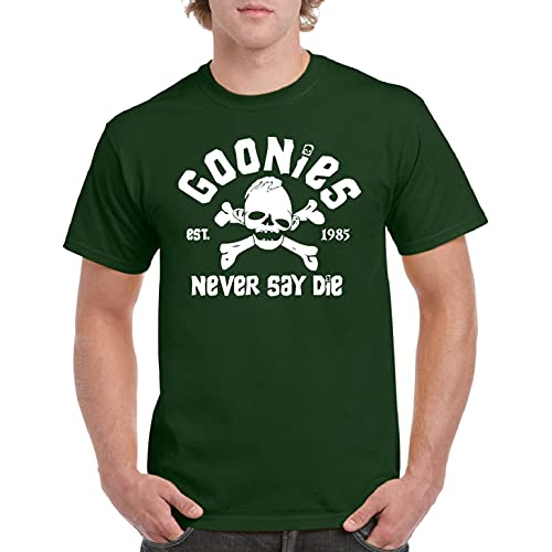 Never Say Die - Camiseta Manga Corta (Verde Botella, XXL)