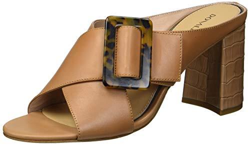 Donald J Pliner Women's Slide Heeled Sandal, Camel, 9