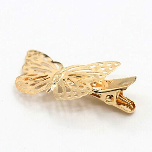 Qingsb Pince à cheveux chic pour femme Motif papillon