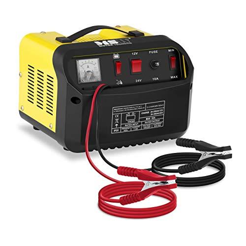 MSW Autobatterie Ladegerät Kfz Batterieladegerät S-CHARGER-50A.3 (Starthilfe-Funktion, 12/24 V Ladespannung, 20/30 A Ladestrom, 130 A Startstrom, 20-300 Ah)