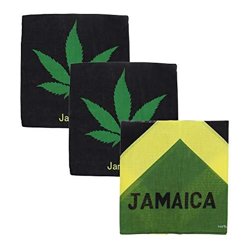 Motique Accessories Halstücher aus Baumwolle, groß, karriische Flaggen, 3 Stück - Grün - Einheitsgröße