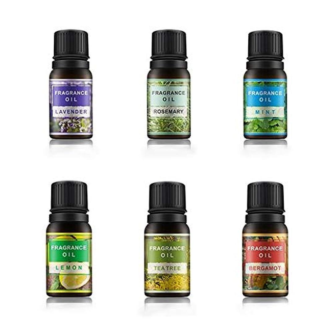 シーサイド大佐帽子Lioncorek エッセンシャルオイル オイル アロマオイル 精油 水溶性 ナチュラル フレグランス 100%純粋 有機植物 加湿器用 6種の香りセット