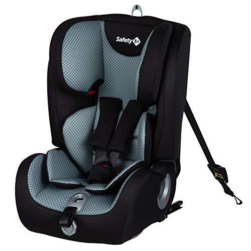 Safety 1st Ever Fix Silla Coche bebé Grupo 1 2 3 Isofix para niños 9 meses - 12 años (9-36 kg), Protección lateral segura, Cojín reductor confortable, Pixel Grey