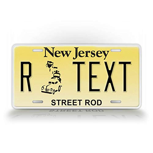 SignsAndTagsOnline Personalized New Jersey Street Rod License Plate Any Text Custom NJ Metal Auto Tag