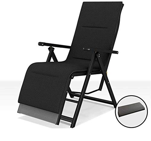 Silla camping plegable sillas plegables camping Sillas plegables playa Tumbona reclinable con el amortiguador de la cintura almohada de seda del hielo y de la playa del jardín del patio ( Color : A )