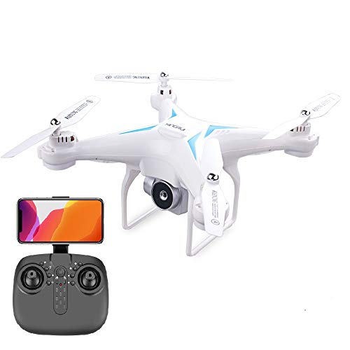 60 Mins Flight Time Drone, XINGRUI H96 RC Drone with 1080P HD Camera Live Video FPV Quadcopter with Headless Mode, Altitude Hold Helicopter with 3 Batteries(20Mins + 20Mins+ 20Mins)