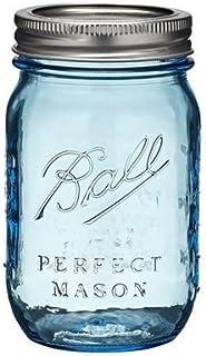 Ball 瓶(メイソンジャー)16oz/ブルー(レギュラー蓋)
