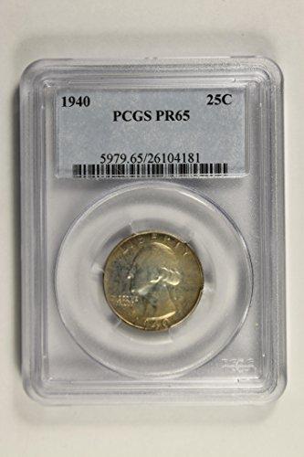 1940 P washington quarter Quarter PR-65 PCGS