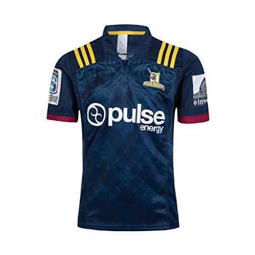 CRBsports Otago Highlanders, Rugby Jersey, Neue Stoff Bestickt, Swag Sportswear (Schwarz, S)