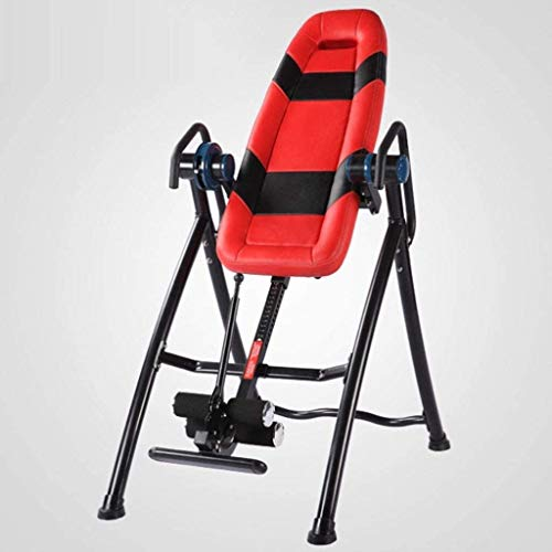 Amazing Deal FQCD Deluxe Inversion Table with Adjustable Head Pillow & Lumbar Support Pad Yoga Inver...