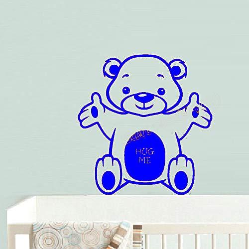 zqyjhkou Cartoon Little Bear Hug Me Wandaufkleber Nette Muster Vinyl Aufkleber Wohnkultur Kinder Baby Schlafzimmer Kindergarten Wandbilder Tapete 3 56x56 cm