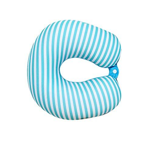 U-vormige Travel Pillow Goede nachtrust polystyreenbolletjes nekkussen voor Airplane Car Trein Bus