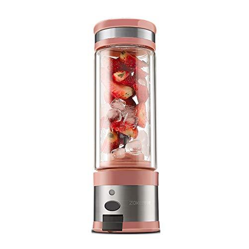 Mena Uk Juicer commode, mélangeur électrique de fruit, mélangeur en verre rechargeable d'USB, mini tasse multifonctionnelle rechargeable de fruit 280ml facile à porter Centrifugeuse Extracteur de Jus