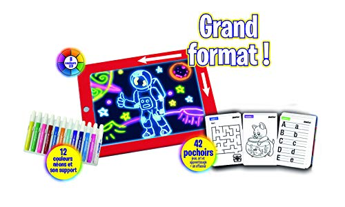 MAGIC PAD - Tablet mágica en versión XL con 48 Accesorios de televisión, MPAD10