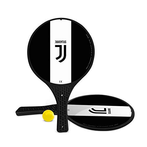 Mondo Toys- 2 Raquetas de plástico - Bola de Goma - Juego de Playa para niños y Adultos - Producto Oficial del F.C. Juventus Torino Unisex - 15022
