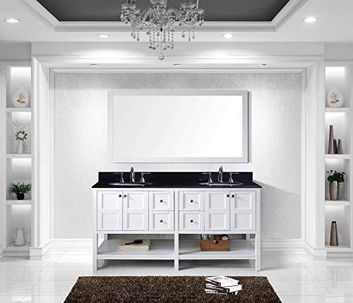 Virtu USA Winterfell Bathroom Vanity Set, 72 inches, White