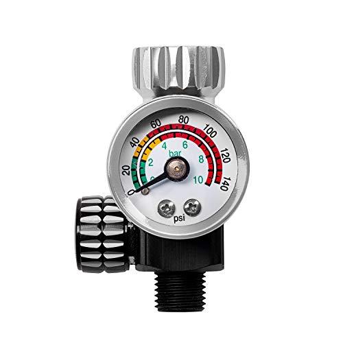 BenBow Druckminderer mit Manometer PK10 9.6 Bar optimalen Luftdruck HVLP Kompatibel