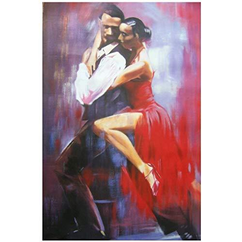 abstrakt Porträt sexy Malerei Wandbild Weihnachten Flamenco Salsa Tänzer Malerei, EIN Druck oder Poster, 60x100cm Kein Rahmen