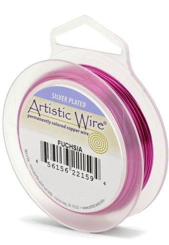 Artistic Wire Beadalon Fil de cuivre Calibre 26 27,43 m fil, Fuchsia
