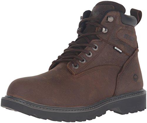 WOLVERINE mens Floorhand 6 Inch Waterproof Soft Toe-m Work Boot, Dark Brown, 9.5 US