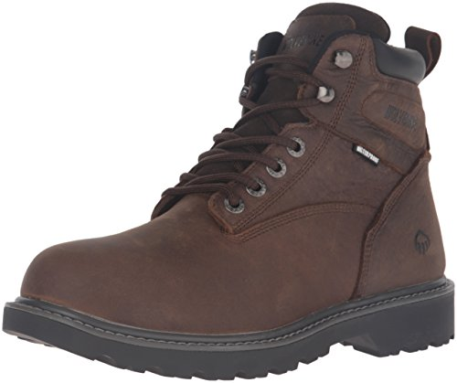 Wolverine Men's Floorhand 6 Inch Waterproof Soft Toe-M Work Boot, Dark Brown, 10.5 M US