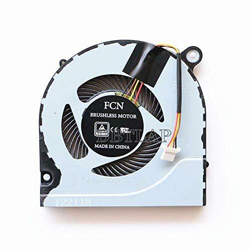 DBTLAP Ventilador de enfriamiento Ventilador Compatible para Acer Predator Helios 300 G3-571 Laptop Ventiladores de CPU DFS541105FC0T FJN1
