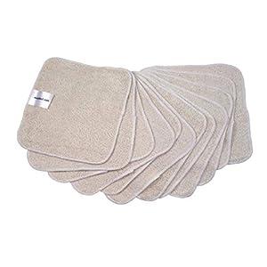 MuslinZ Toallitas de algodón de bambú de 20 x 20 cm, lavable, reutilizable, toallitas para bebé blanco Blanco desteñido Talla:20cms