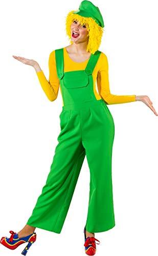 Orlob Damen Kostüm Latzhose grün Karneval Fasching Gr.44/46